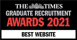 The Times Graduate Recruitment Awards 2021 Best Website