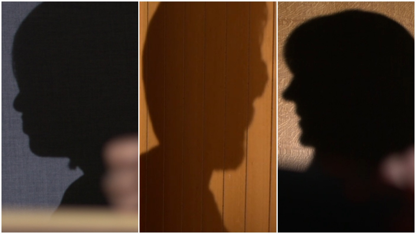 Faces in silhouette