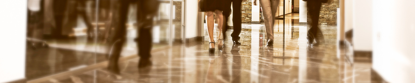 People walking in an office environment