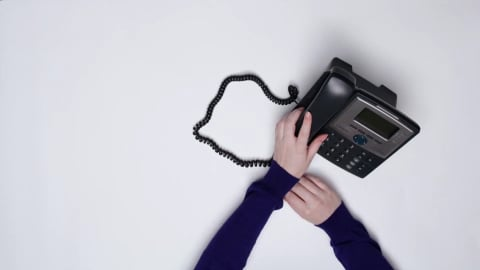 Someone answering the phone