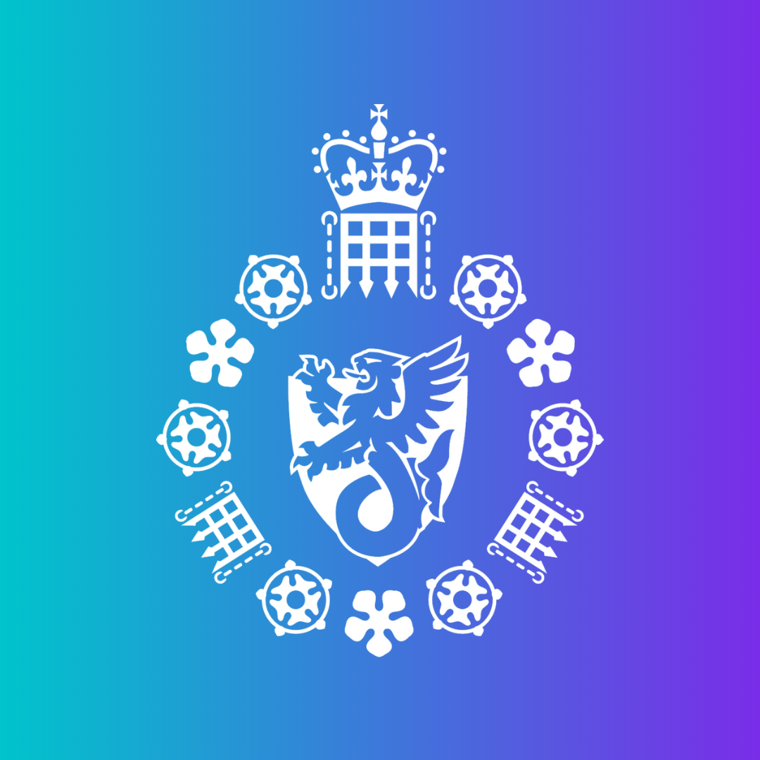 MI5 logo with purple and blue background