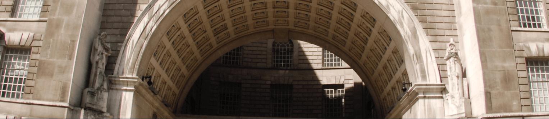 A brick archway