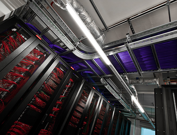 Inside a data storage room