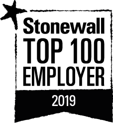 Stonewall top 100 employer 2019.