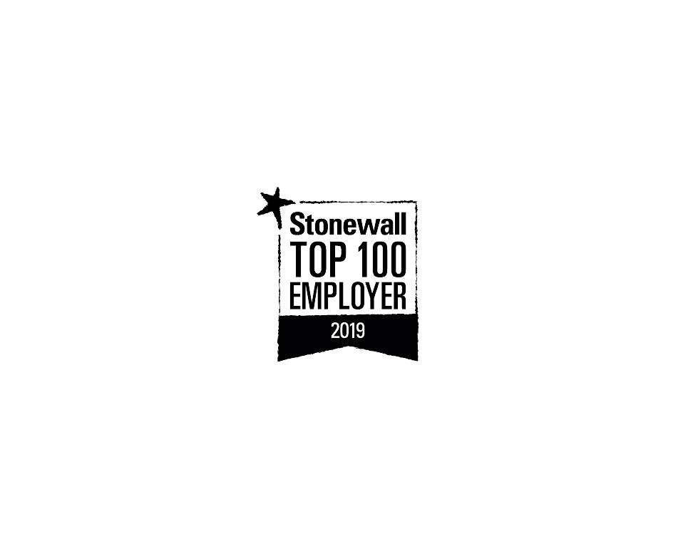 Stonewall Top 100 Employer 2019 logo