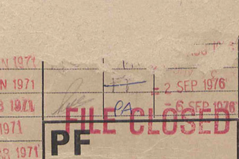 September 2016 release of files to The National Archives