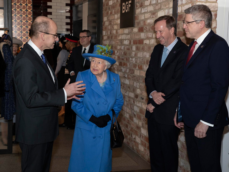 Heads of GCHQ, MI5 and MI6 with HM The Queen