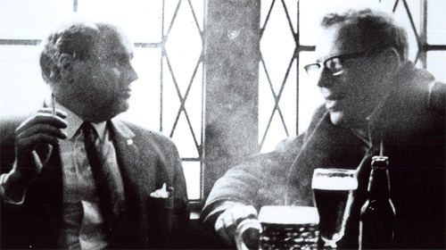 MI5 surveillance photograph of NUM general secretary Lawrence Daly with Communist Party organiser Bert Ramelson in 1969