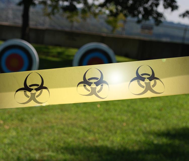 Biohazard warning tape