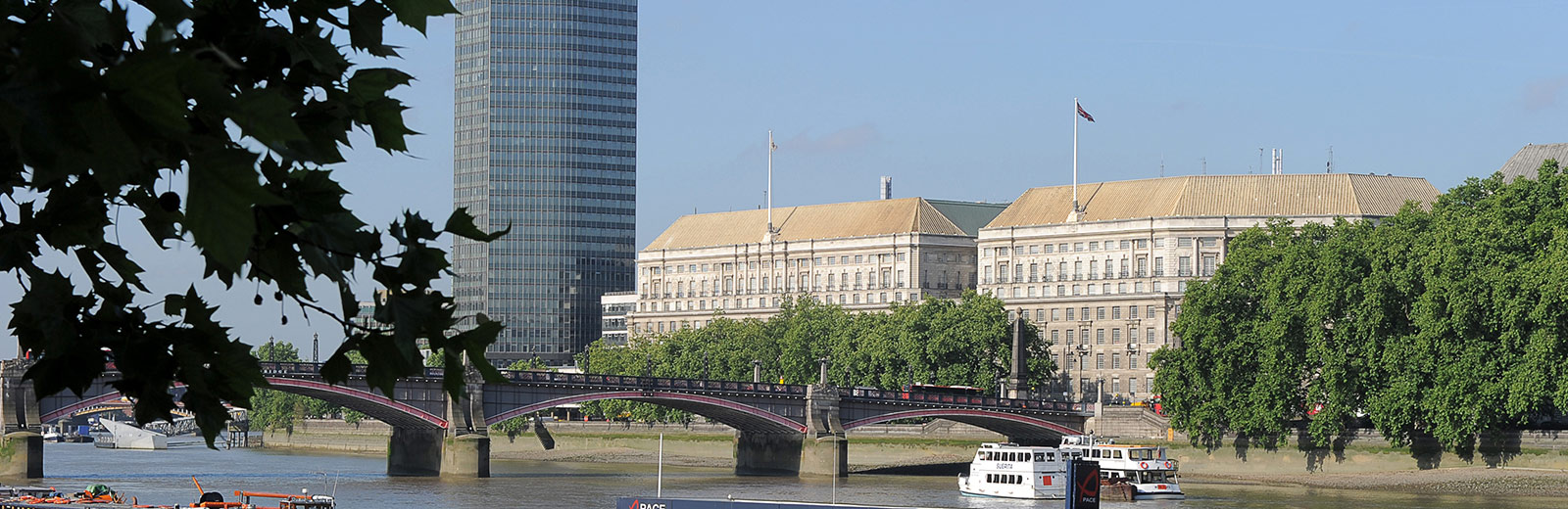 View across the river of Thames House